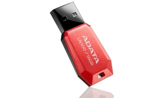 ADATA Flash Disk 16GB USB 2.0 DashDrive UV100, červená